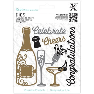 Xcut Dies 10/Pkg-Champagne Celebration