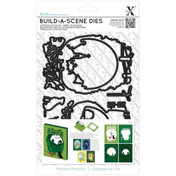 Owl Logo Set Of Eight: Shop Xcut Build-A-Scene Dies 9/Pkg-Shadow Box Countryside