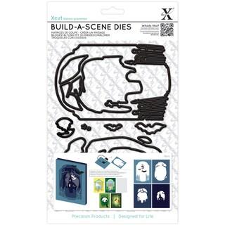 Xcut Build-A-Scene Dies 8/Pkg-Shadow Box Spooky Graveyard