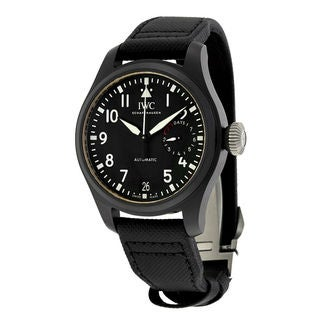 IWC Pilots IW502001 Men's Black Dial Watch