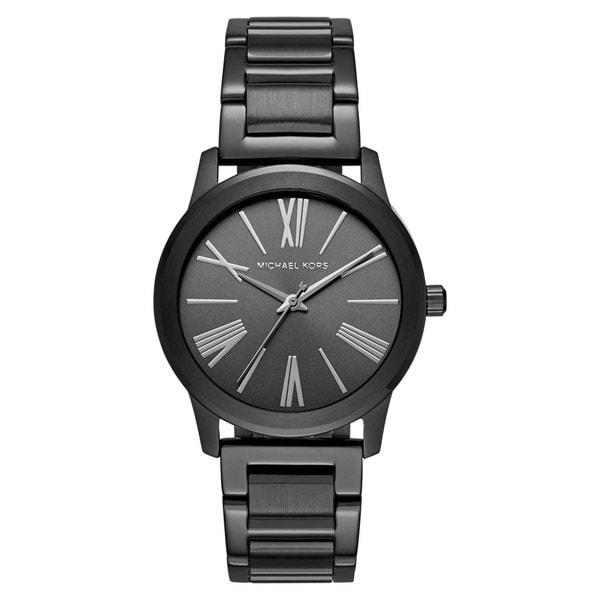 Michael Kors Women's MK3618 Hartman Black Dial Black Stainless Steel Bracelet Watch