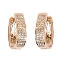 Goldplated Gold Crystal Hoop Earrings