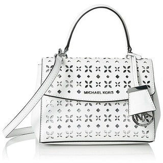 Michael Kors Ava X-Small Saffiano Leather White Crossbody Handbag