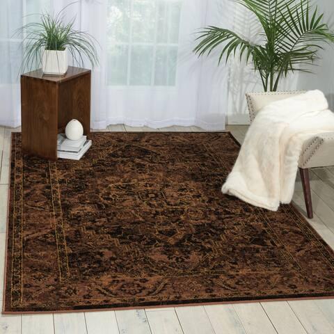 Nourison Delano Traditional Persian Medallion Area Rug