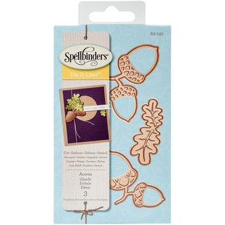 Spellbinders Shapeabilities Die D-Lites-Acorn And Oak Leaf