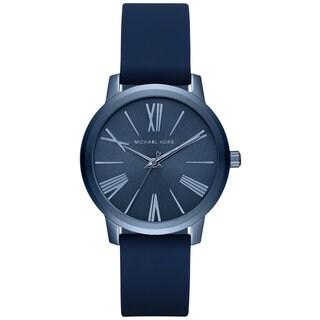 Michael Kors Women's MK2639 Hartman Navy Dial Navy Silicone Watch
