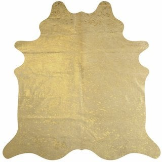 Metallic Gold Cowhide Rug