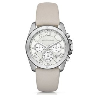 Link to Michael Kors Women's MK2633 Brecken Chronograph Silver Dial White Leather Watch Similar Items in Women's Watches
