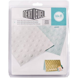 "Next Level Embossing Folders 6""X6"" 2/Pkg-Dotted"