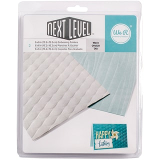 "Next Level Embossing Folders 6""X6"" 2/Pkg-Wave"