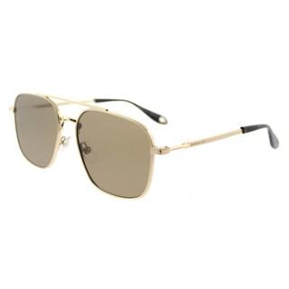 Givenchy GV 7033 J5G_5V Gold Metal Aviator Flat Brown Lens Sunglasses