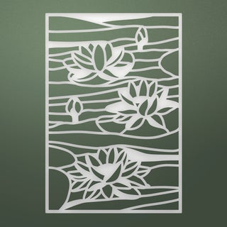 """Ultimate Crafts Stained Glass Die-Lily Pond, 2.3""""X3.3"""""""