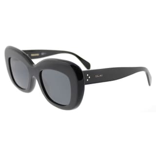 Celine CL 41432 807 Black Plastic Cat-Eye Grey Lens Sunglasses
