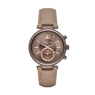 Michael Kors Women's MK2629 Sawyer Chronograph Sable Dial Latte Leather Watch