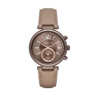 Michael Kors Women's MK2629 Sawyer Chronograph Sable Dial Latte Leather Watch