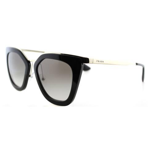 0ecb376e3b Prada PR 53SS 1AB0A7 Black Gold Plastic Cat-Eye Grey Gradient Lens  Sunglasses