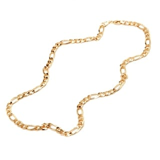 Goldplated 10mm Figaro-link 24-inch Chain Necklace