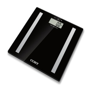Coby Black Glass Multi-user Digital Body Fat Scale
