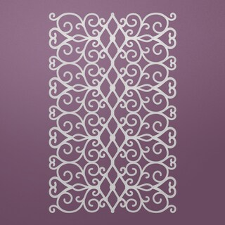 "Ultimate Crafts Background Gallery Die-Floral Lattice, 4.3""X2.7"""