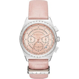 Michael Kors Women's MK2615 Vail Chronograph Rose Dial Blush Leather Watch