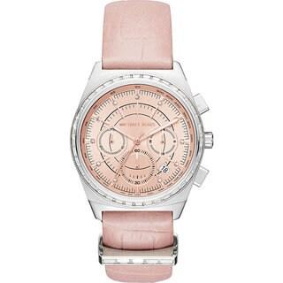Michael Kors Women's MK2615 Vail Chronograph Rose Dial Blush Leather Watch