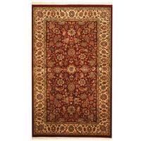 Herat Oriental Pakistani Hand-knotted Kashan Wool Rug (3' x 5') - 3' x 5'
