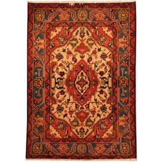 Herat Oriental Persian Hand-knotted Hamadan Wool Rug (3'3 x 4'10)