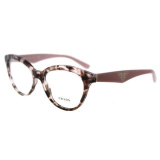 Prada PR 11RV ROJ1O1 Triangle Pink Havana Plastic Cat-Eye 52mm Eyeglasses
