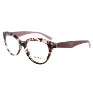 Prada PR 11RV ROJ1O1 Triangle Pink Havana Plastic Cat-Eye 52mm Eyeglasses