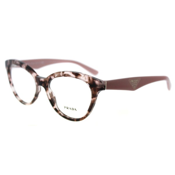 723f975d292 Prada PR 11RV ROJ1O1 Triangle Pink Havana Plastic Cat-Eye 52mm Eyeglasses