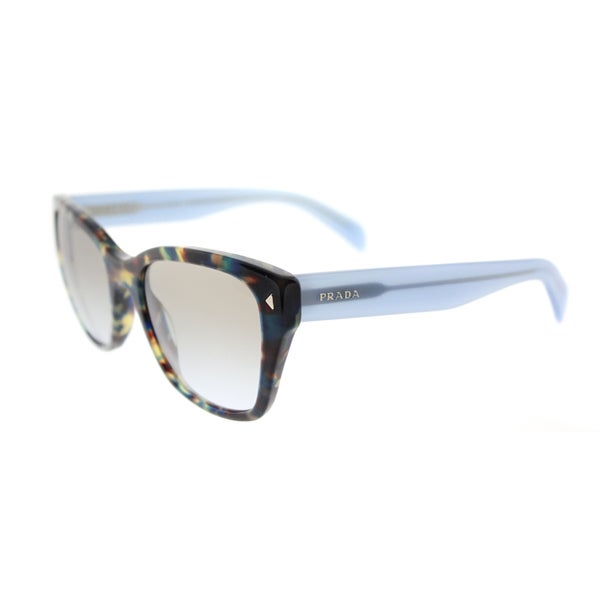 f719daceb0e40 Prada PR 09SS UE14S2 Spotted Brown Blue Plastic Square Brown Gradient Lens  Sunglasses