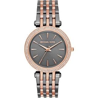 Michael Kors Women's MK3584 Darci Gunmetal Dial Two-Tone Stainless Steel Bracelet Watch
