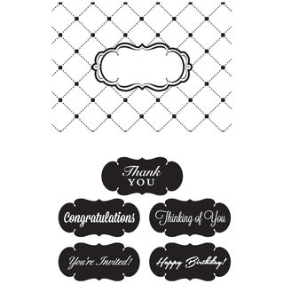 "CGull Interchangeable Embossing Folder 4.5""X6.5""-Thank You"