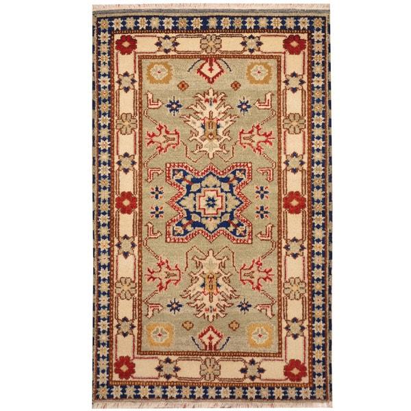 Herat Oriental Indo Hand-knotted Kazak Wool Rug - 3' x 5'