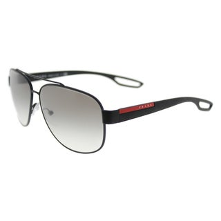 8200838bd6 Shop PS 53NS 1BO5Z1 Demi Shiny Black Polarized Gray by Prada for Men ...