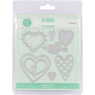 First Edition Dies 9/Pkg-Heart