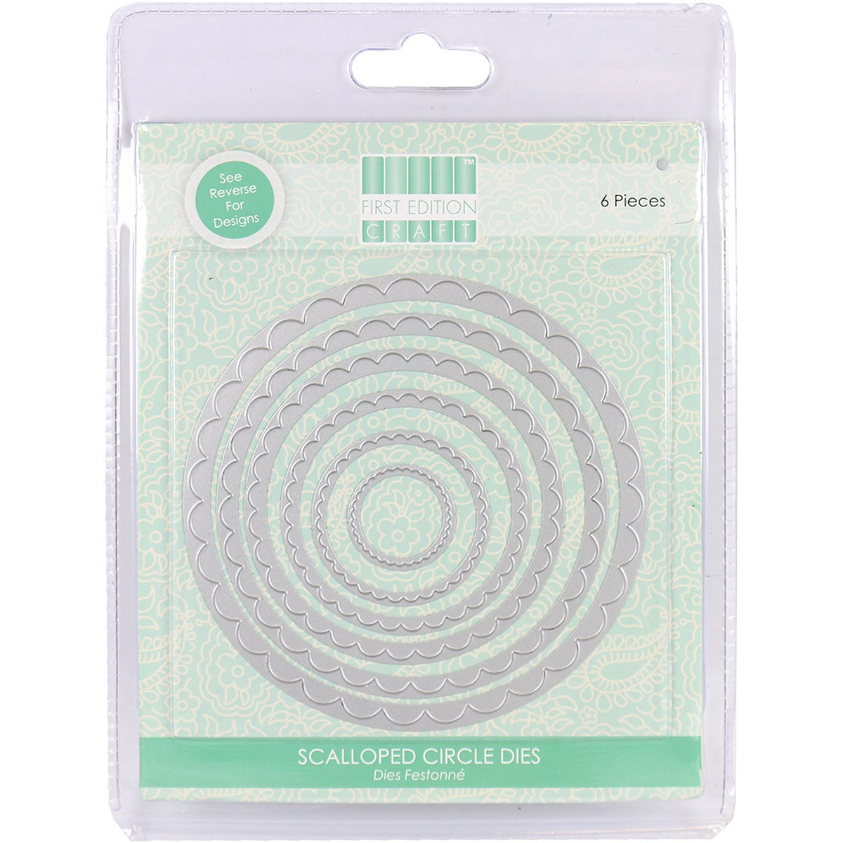 First Edition Dies 6/Pkg-Scalloped Circle (Scalloped Circle)