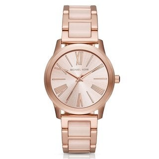 Michael Kors Women's MK3595 Hartman Rose Gold Dial Two-Tone Bracelet Watch