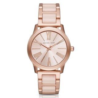Michael Kors Women's MK3595 Hartman Rose Gold Dial Two-Tone Bracelet Watch