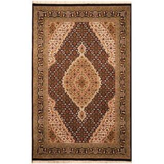 Herat Oriental Indo Hand-knotted Tabriz Wool & Silk Rug (3'3 x 5'3)