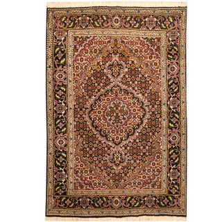Herat Oriental Persian Hand-knotted Tabriz Wool & Silk Rug (3' x 5')