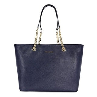 Michael Kors Jet Set Top Zip Admiral Saffiano Leather Tote Bag