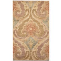 Herat Oriental Indo Hand-knotted Ikat Wool Rug - 3'1 x 4'10