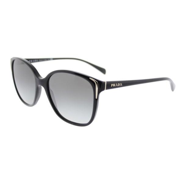 4a6d7eb071bcf ... Women s Sunglasses     Fashion Sunglasses. Prada PR 01OS 1AB3M1 Black  Plastic Square Sunglasses Grey Gradient Lens
