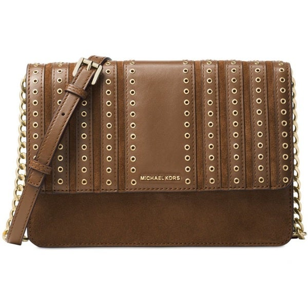 c2f84c8b6ecf MICHAEL Michael Kors Brooklyn Grommet Large Dark Caramel Crossbody Handbag