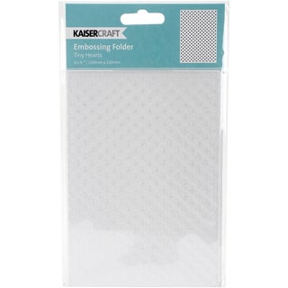 "Kaisercraft Embossing Folder 4""X6""-Tiny Hearts"