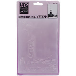 """Ecstasy Crafts Embossing Folder 5""""X7""""-Costal View"""