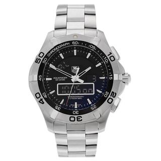 Tag Heuer Men's Aquaracer CAF1010.BA0821 Stainless Steel Chronotimer Bracelet Watch