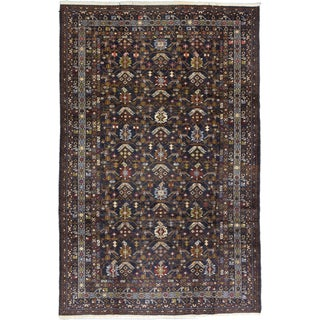 ecarpetgallery Hand-Knotted Rizbaft Blue Wool Rug (6'9 x 10'6)