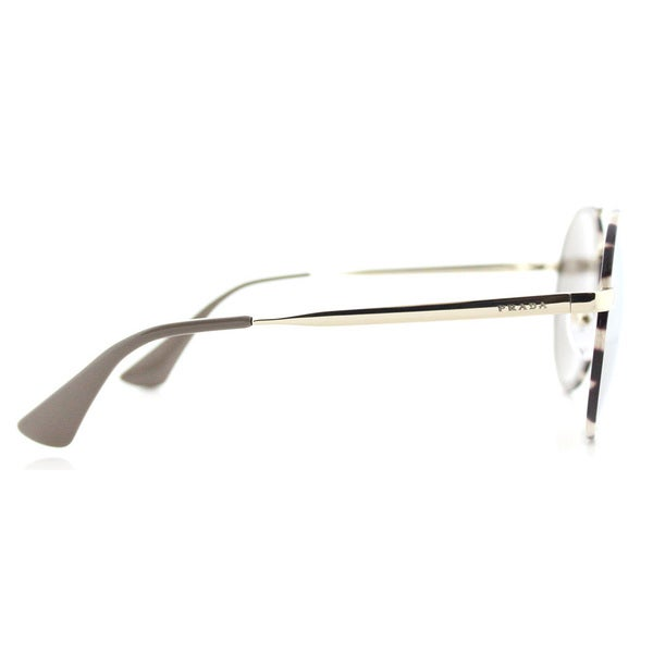 182ba4c15dfaf Prada PR 51SS UAO1C0 Pale Gold Tortoise Metal Round Gold Mirror Lens  Sunglasses